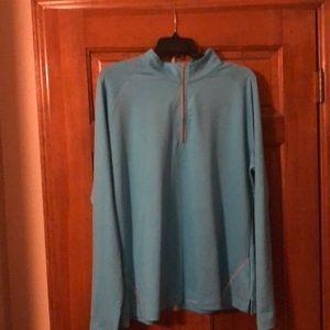 Light blue long sleeve golf shirt